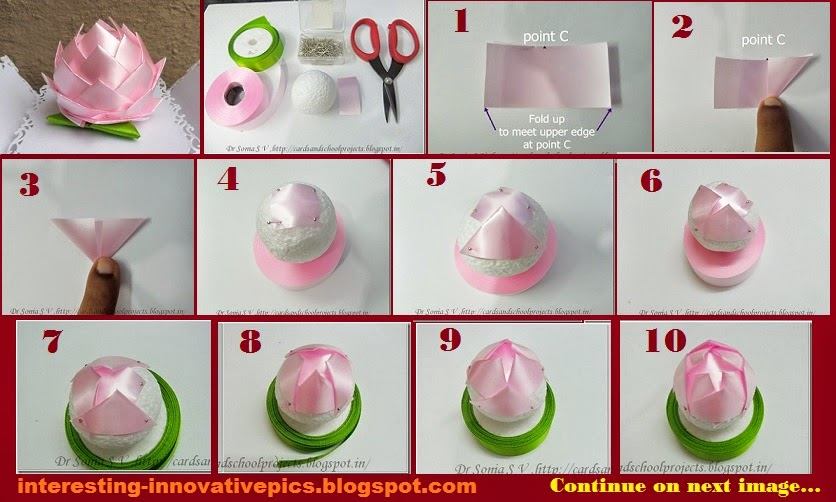 Diy decorative lotus out of thermocol ball for Make things out of waste material