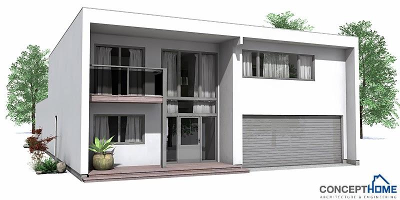 Plantas de casas modernas planta de casa moderna ch113 for Casa moderna 2 plantas