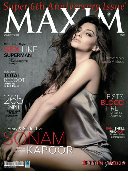 Maxim magazine sexy cover sonam kapoor january 2012