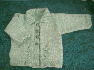 Leaf Panel Knitting Pattern : Knitting Galore: Leaf Panel Baby Jacket