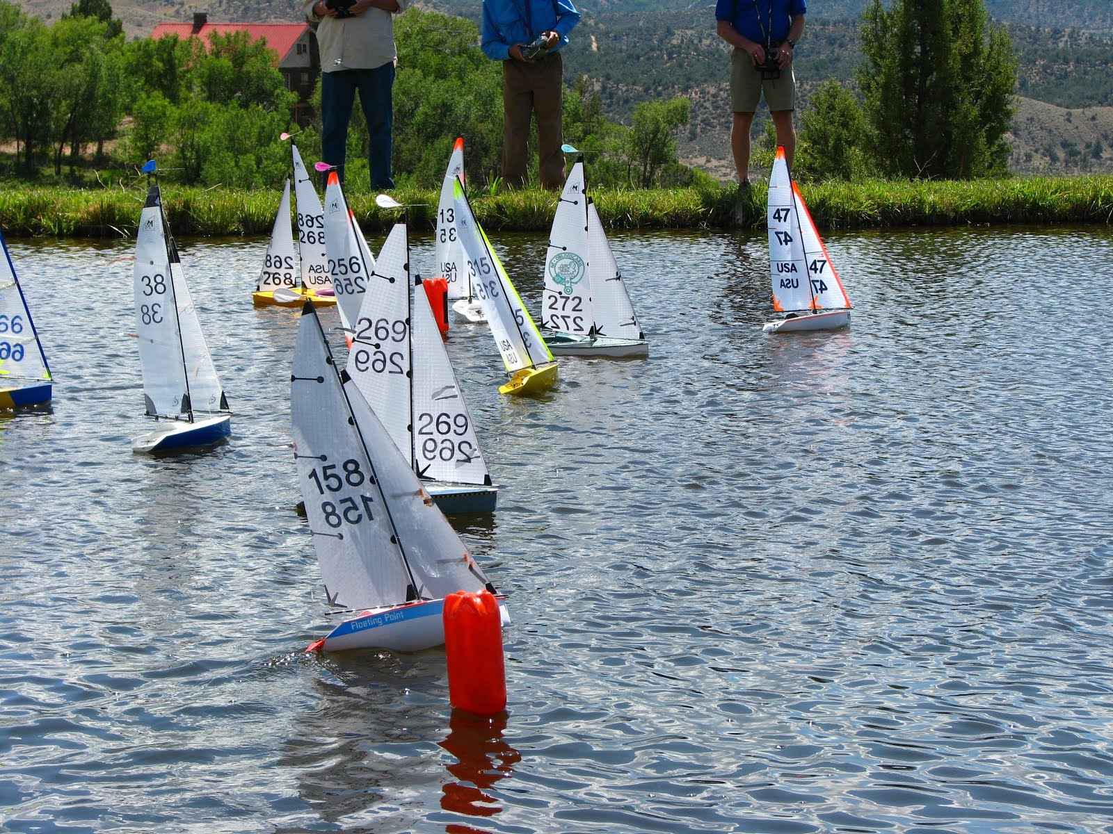 Start line action at the 2015 AMYA Region 5 Championship Regatta