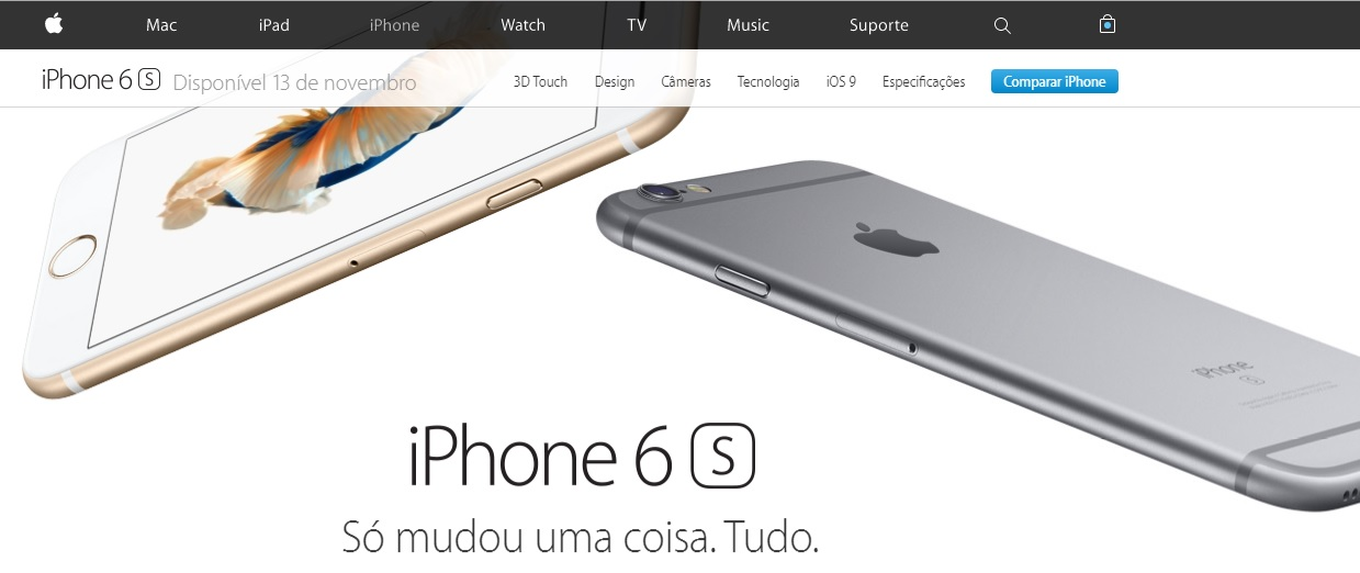 iPhone 6s chega ao Brasil oficialmente no dia 13 de novembro