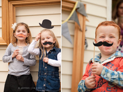 Joyess Designs Little Man birthday party mustache photo booth