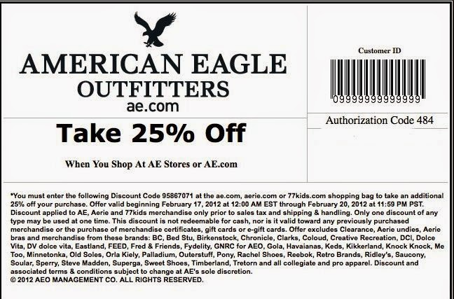 Ae coupon in store
