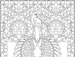 Art Nouveau Animal Designs Coloring Pages