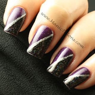 Purple and Black Nail Art