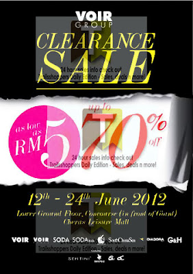 VOIR GROUP Clearance Sale 2012