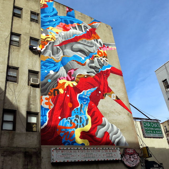 """Liberty"" New Street Art By Tristan Eaton For The Lisa Project In New York City, USA. 1"