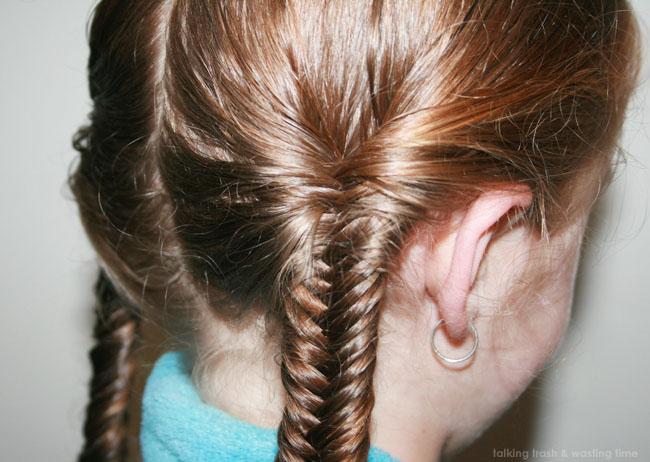 Fishtail braid plait hairstyle