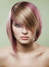 Short hair styles with little staining
