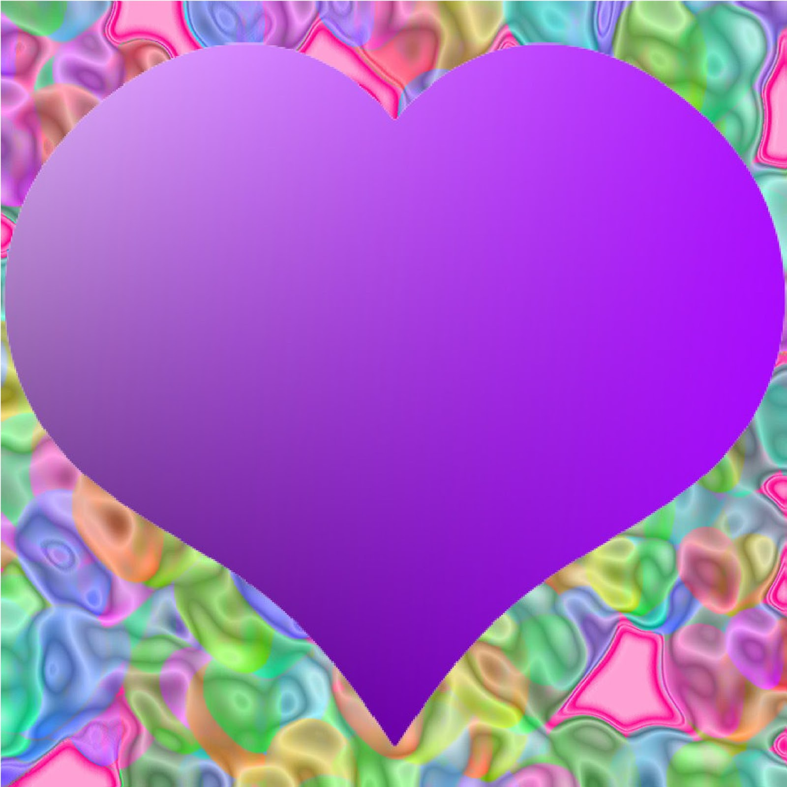 Purple Heart Borders And Frames Free Wallpaper