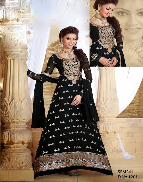 Miss Universe India Designer Floor Length Semi Stitched Anarkali Suit
