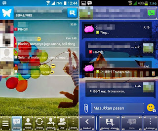 Free download new BBM Mod transparent .apk full auto-update
