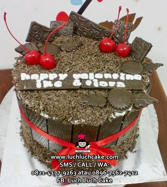 Kue Tart Blackforest Valentine Cake (REPEAT ORDER)