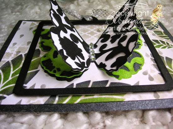wings view partial die cutting black butterfly