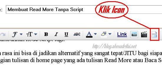 Cara Mudah Membuat Read More Tanpa Script