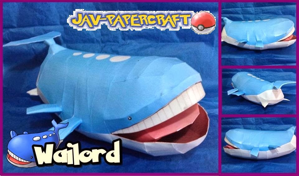 Wailord Paper Model