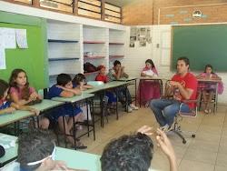 Bat-papo sobre filosofia e Super-Heróis na escola José Pedro Steigleder