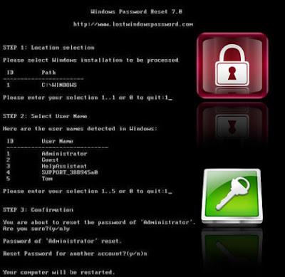 Windows Password Remover 7.01
