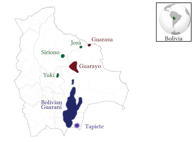 carte de Bolivie