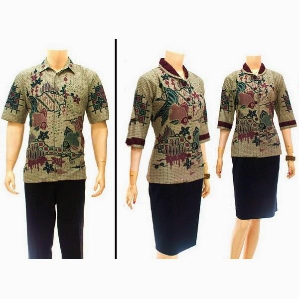 SR723 Grosir Baju Batik pasangan/Couple 2014