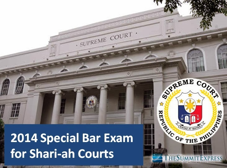 SC releases Special Bar Exam 2014 for Shari-ah Courts results | List of Passers