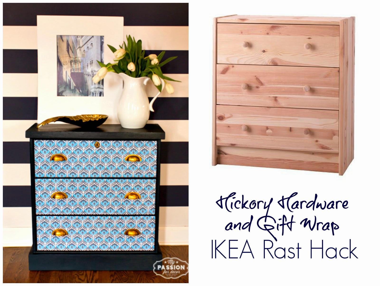 gift wrap hardware ikea rast hack - Ikea Rast