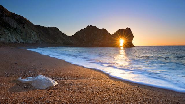 Fondos Atardecer en la Playa