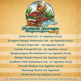 Jadwal Festival Serayu Banjarnegara 2015