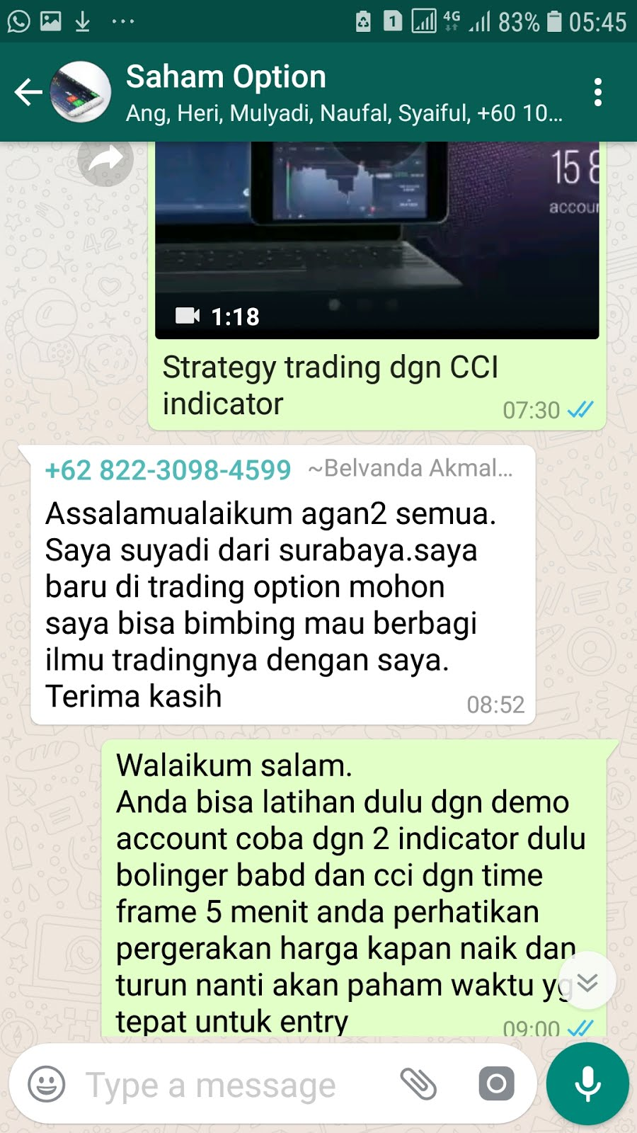 Gabung Groups WA Saham Option