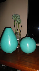 Vaso cerâmica turquesa