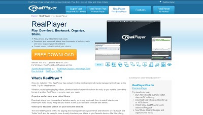 telecharger real player 16 gratuit
