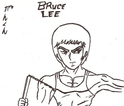 bruce lee coloring pages - photo#25
