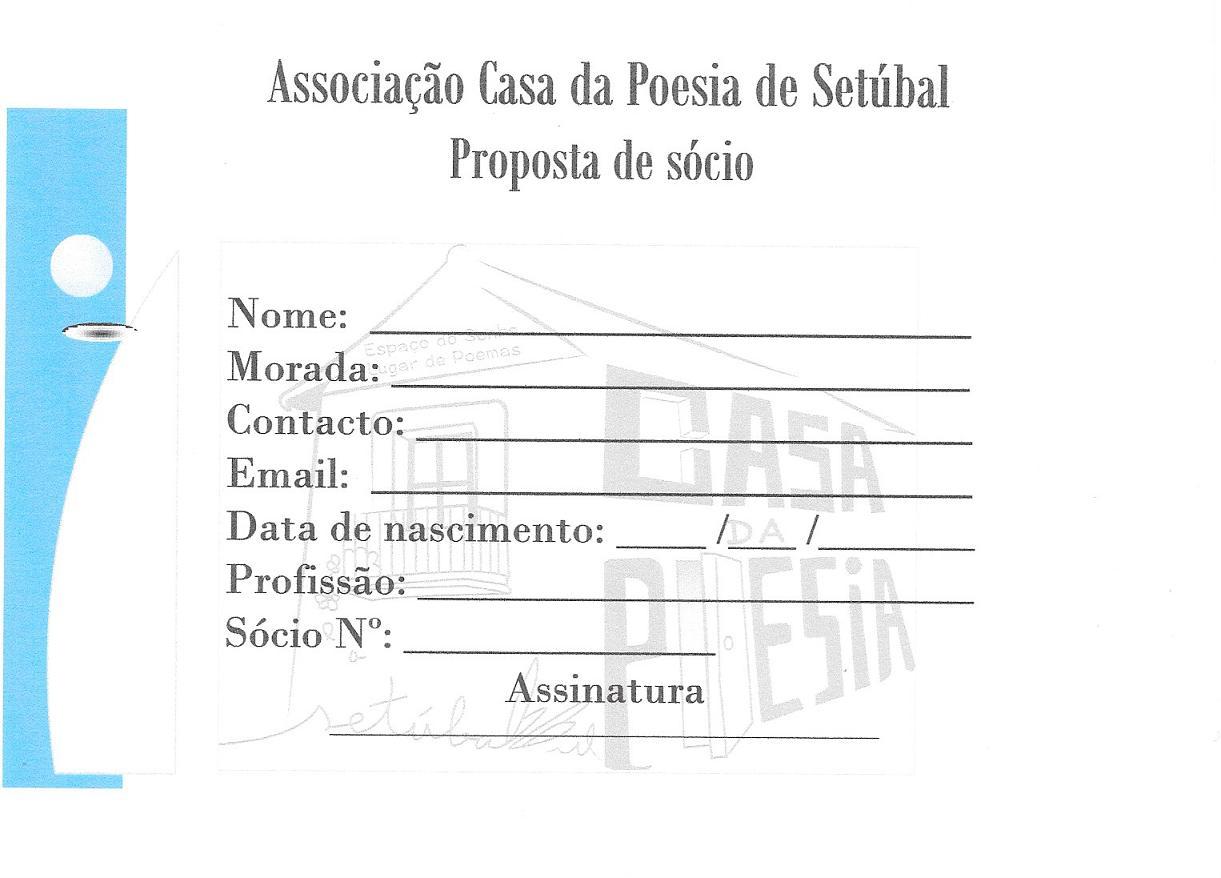 Proposta de Sócio - Inscrição 2€