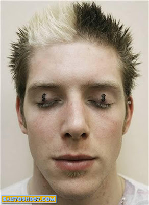 crazy Eyelid Tattoos