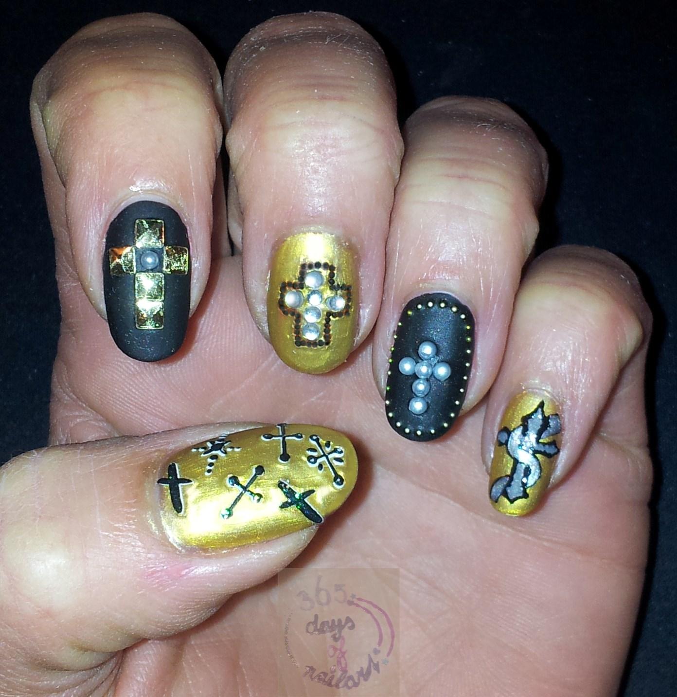 365 Days Of Nail Art Day 149 Nail Art Crosses