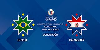 Ver Brasil vs Paraguay en vivo | 27 junio del 2015 | Cuartos de Final | Copa América Online