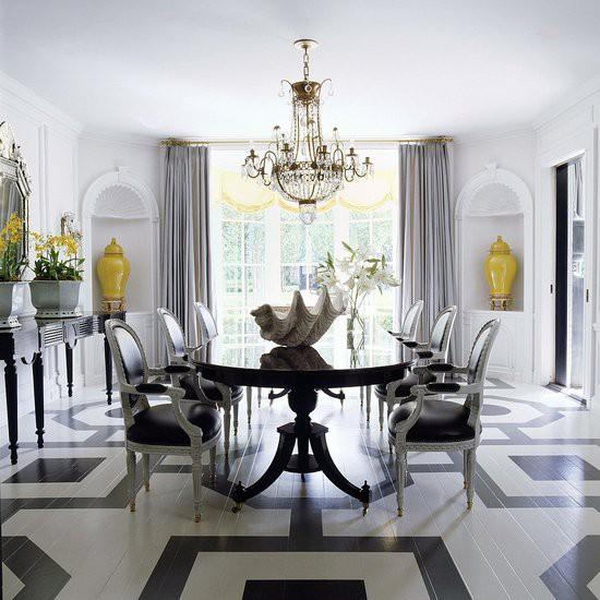 bold pattern floor, interior design, geometrics, graphic pattern