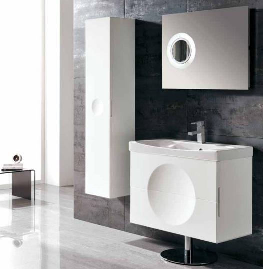 Mueble Baño Blanco Lacado:conjunto de mueble de baño lacado blanco alta gama diseño exclusivo