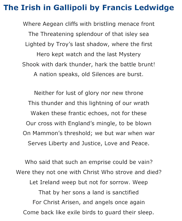 Roads to the Great War: A War Poem Inspired by the Suvla Bay Operation
