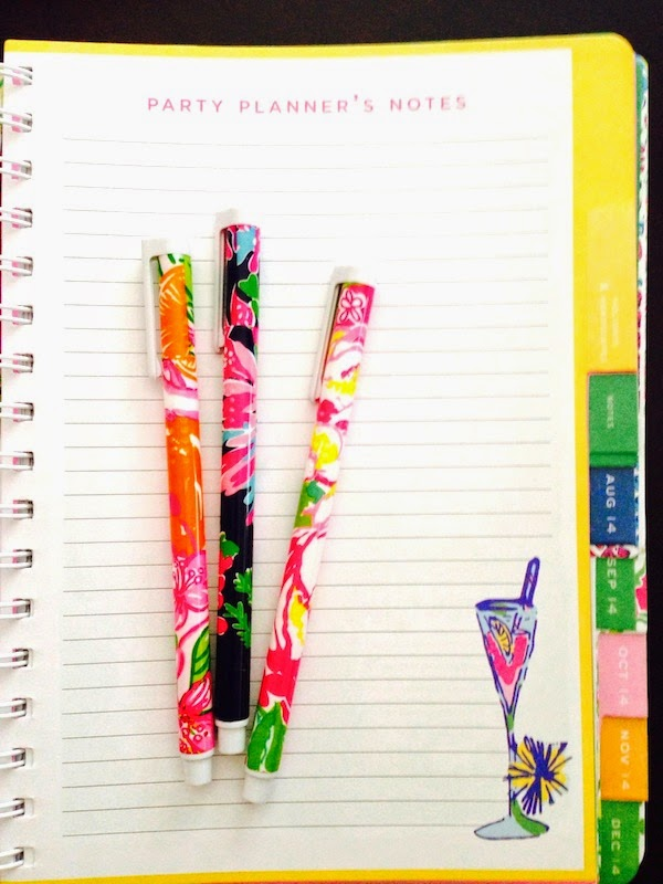 2014-2015 Lilly Pulitzer Agenda Review planner school sorority  party planner