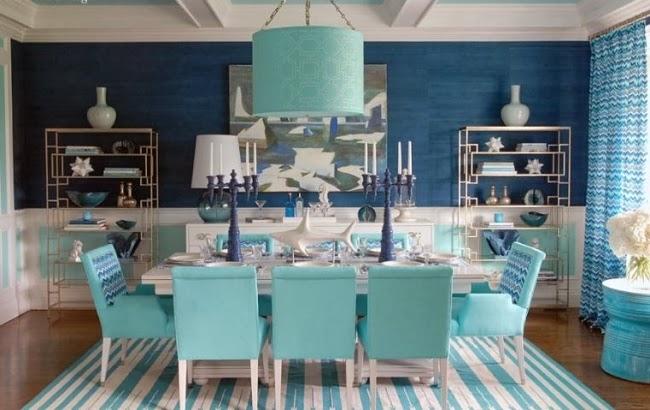 Comedores azules colores en casa - Sillas azules comedor ...