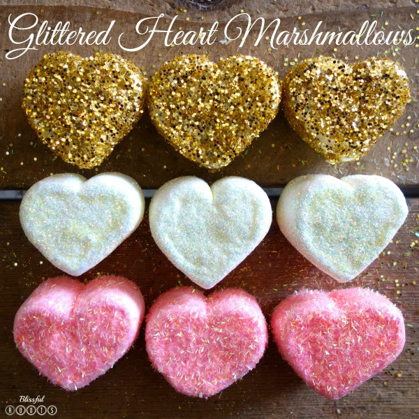 DIY Glittered Heart Marshmallows from Blissful Roots @ TwelveOeight