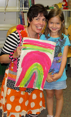 Debbie Clement, Rainbows Within Reach, Author-in-the-Schools, Rainbow painting