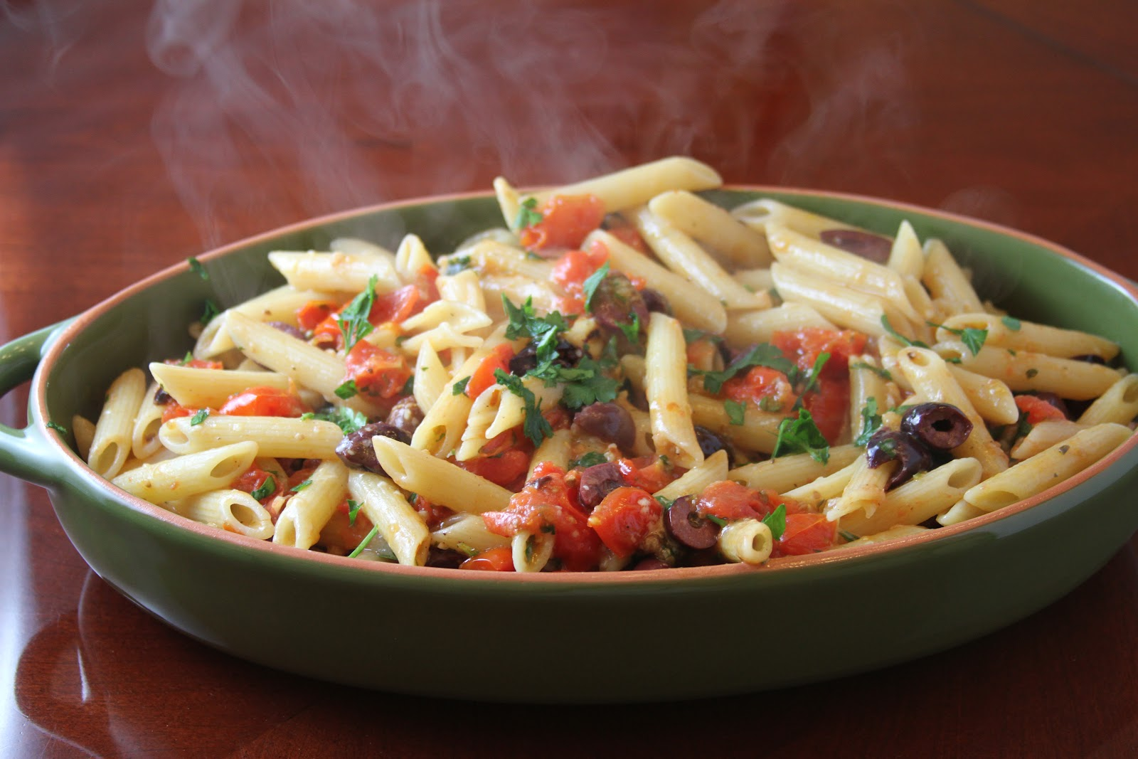 Charlotte's Fan-Fare: Tomato and Olive Penne