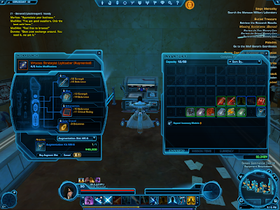 SWTOR - Upgrading Augment Slot Cost