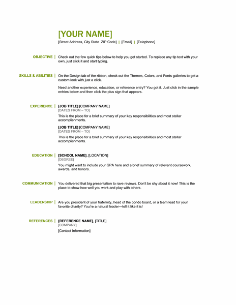 microsoft office 365 sample resume templates basic resume green and black word
