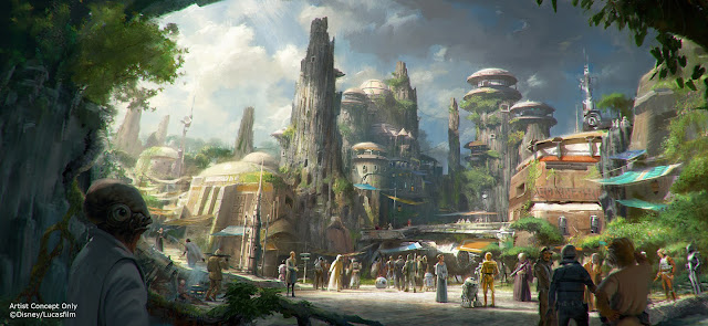 Concept art for Star Wars Land