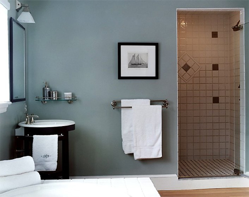 Paint color ideas popular home interior design sponge What color to paint bathroom with gray tile