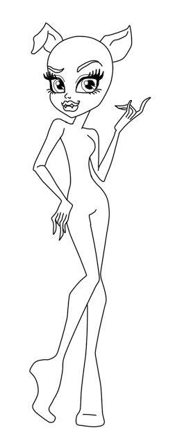 How To Draw Monster High Body Base